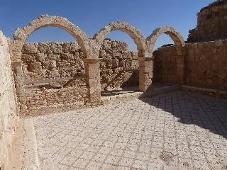 Ein mit Mosaiken ausgeleger Raum im Komplex des Qasr al-Hallabat, einem ursprünglichen Römerlager