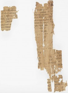 Papyrus 22 (= Papyrus Oxyrhynchus 1228), Glasgow University Library, MS Gen 1026/13 (Public Domain, via Wikimedia Commons)