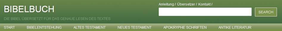 Die Seite bibelbuch.de will eine Hilfe für das Studium der Bibel sein und bietet neben urtextnahen Übersetzungen auch Einführungen zur Entstehung der Bibel (Bild: Kopfzeile der Seite bibelbuch.de)