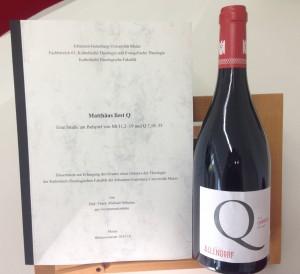 Der passende Wein zum Dissertationsthema
